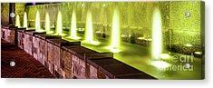 Romare Bearden Park Fountain Panorama Photo Acrylic Print