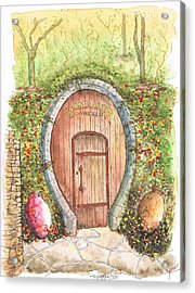 Rombauer Vineyard Entrance Door, California Acrylic Print
