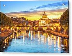 Rome At Twilight Acrylic Print