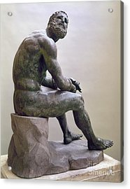 Rome Boxer Sculpture Acrylic Print by Granger