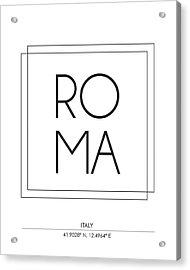 Rome City Print With Coordinates Acrylic Print