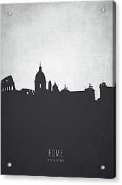 Rome Italy Cityscape 19 Acrylic Print by Aged Pixel