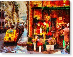 Rome Street Colors Acrylic Print by Stefano Senise