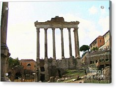 Acrylic Print featuring the mixed media Rome The Eternal City by Rosario Piazza