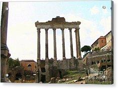 Rome The Eternal City Acrylic Print