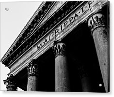 Rome - The Pantheon Acrylic Print by Andrea Mazzocchetti