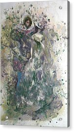 Romeo And Juliet. Monotype Acrylic Print by Valentina Kondrashova
