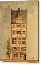 Romer Platz Frankfurt Acrylic Print by Juan  Bosco