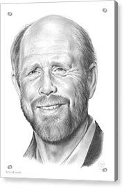 Ron Howard Acrylic Print by Greg Joens