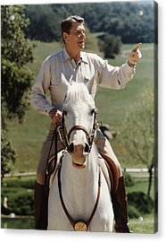 Ronald Reagan On Horseback  Acrylic Print