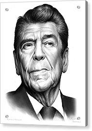 Ronald Regan Acrylic Print by Greg Joens