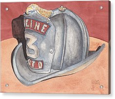 Rondo's Fire Helmet Acrylic Print by Ken Powers
