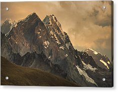 Rondoy Peak 5870m At Sunset Acrylic Print by Colin Monteath