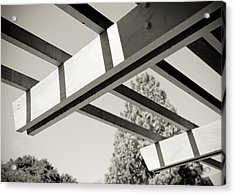 Roof Beams Acrylic Print by Edward Myers