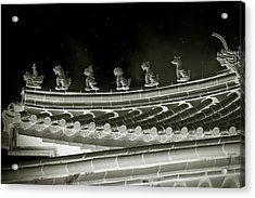 Roof National Palace Museum Taiwan City - Taipei  Acrylic Print by Christine Till