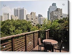 Roof Terrace Above Rappongi Tokyo Japan Acrylic Print by Andy Smy