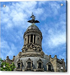 Roof Top Statue Acrylic Print