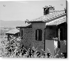 Roofs With A View Acrylic Print by Dorothy Berry-Lound