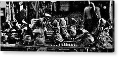Roofers Tar Boots Take A Break Acrylic Print