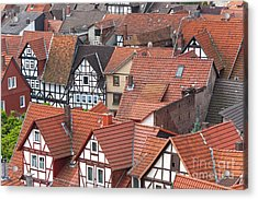 Roofs Of Bad Sooden-allendorf Acrylic Print by Heiko Koehrer-Wagner