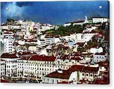Acrylic Print featuring the photograph Roofs Of Lisbon by Dariusz Gudowicz