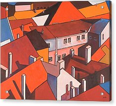 Roofs Of Prague Acrylic Print