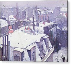 Roofs Under Snow Acrylic Print