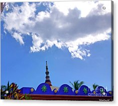 Acrylic Print featuring the digital art Rooftop And Sky by Francesca Mackenney