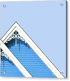 Rooftop Detail With Decorative Fretwork Acrylic Print