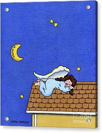 Rooftop Sleeper Acrylic Print by Sarah Batalka