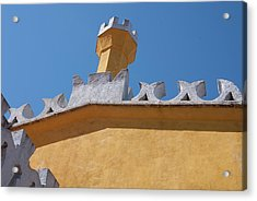Rooftop Study Of Pena Palace -sintra, Portugal Acrylic Print by Connie Sue White