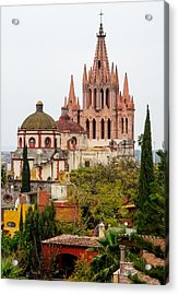 Rooftop View Of La Parroquia De San Miguel Arcangel Acrylic Print by Rob Huntley