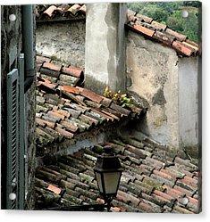 Rooftops Corsica Acrylic Print by John Bradburn