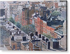 Rooftops Greenwich Village Acrylic Print by Anthony Butera