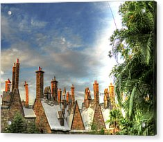 Acrylic Print featuring the photograph rooftops Hogsmeade by Tom Prendergast