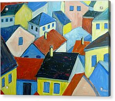 Rooftops In France Acrylic Print