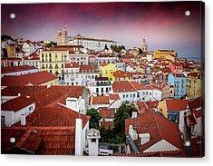 Rooftops Of Alfama Lisbon  Acrylic Print
