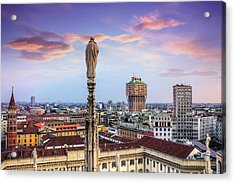 Rooftops Of Milan From The Duomo  Acrylic Print