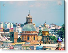 Acrylic Print featuring the photograph Rooftops Of Seville - 1 by Mary Machare