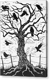 Rook Tree Acrylic Print by Nat Morley