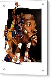 Rookie Faces Idol Acrylic Print by Dwayne Lester