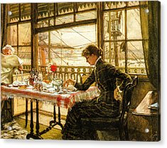 Room Overlooking The Harbour 1876  Acrylic Print by Jacques Joseph Tissot