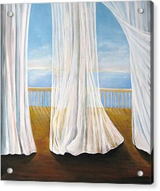 Room With A View Acrylic Print by Eileen Kasprick