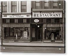 Rooney's Restaurant Wilkes Barre Pa 1940s Acrylic Print