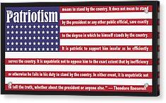 Roosevelt Patriotism Acrylic Print
