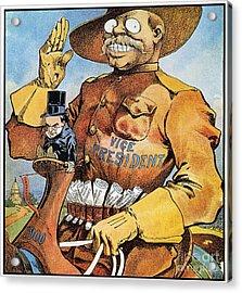 Roosevelt/mckinley Cartoon Acrylic Print by Granger