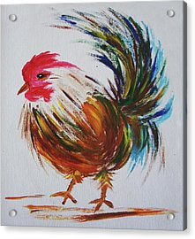 Rooster  Acrylic Print by Art Spectrum