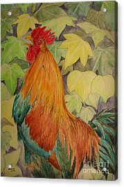 Acrylic Print featuring the painting Rooster by Laurianna Taylor