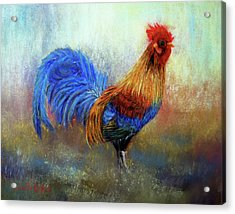 Rooster Acrylic Print by Loretta Luglio