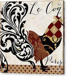 Roosters Of Paris II Acrylic Print by Mindy Sommers
